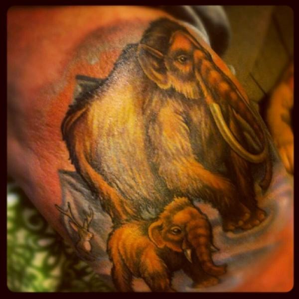 Tatuagem de mamute 01