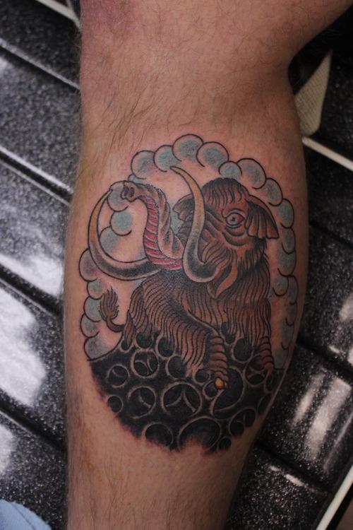 Tatuagem de mamute 05