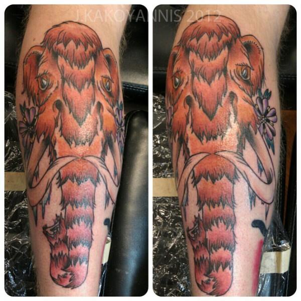 Tatuagem de mamute 11