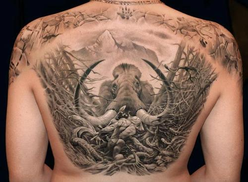 Tatuagem de mamute 13