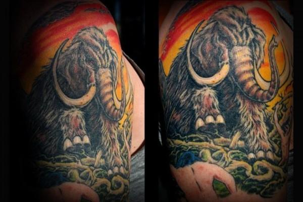 Tatuagem de mamute 16