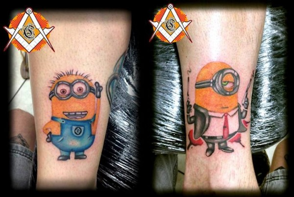 Tatuagens dos Minions de Meu Malvado Favorito 16