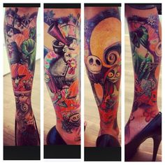 Tatuagens de O Estranho Mundo de Jack - Nightmare Before Christimas Tattoo 34