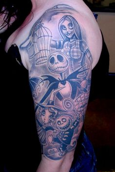 Tatuagens de O Estranho Mundo de Jack - Nightmare Before Christimas Tattoo 44