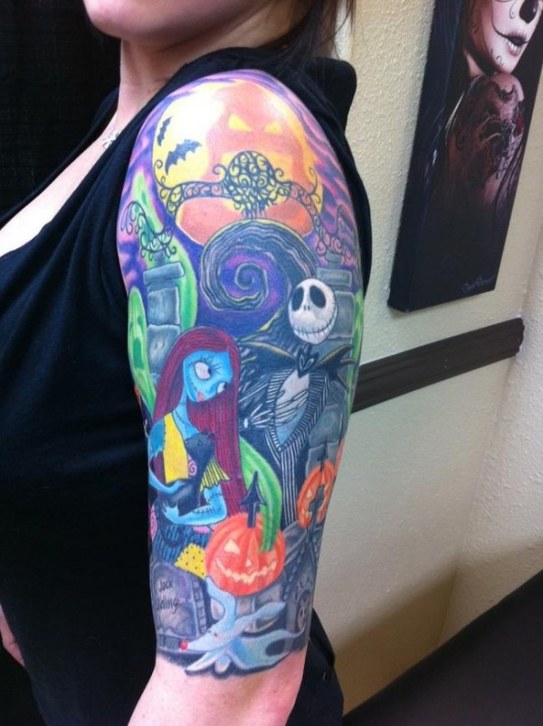 Tatuagens de O Estranho Mundo de Jack - Nightmare Before Christimas Tattoo 48
