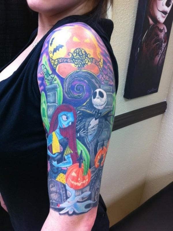 Tatuagens de O Estranho Mundo de Jack - Nightmare Before Christimas Tattoo 48