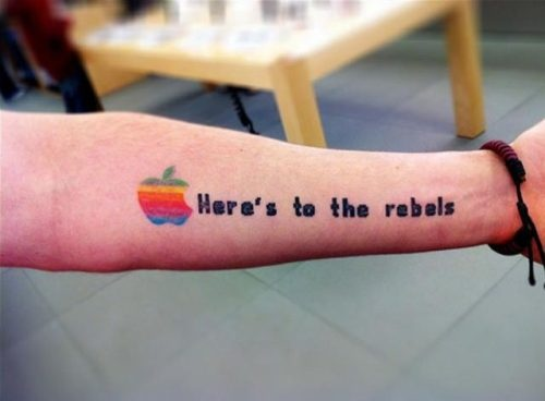 Tatuagens do logo da Apple 05