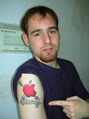Tatuagens do logo da Apple 28