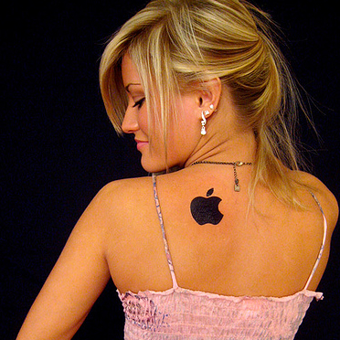 Tatuagens do logo da Apple 36
