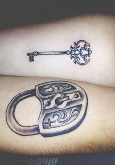Tatuagens de chaves e fechadura