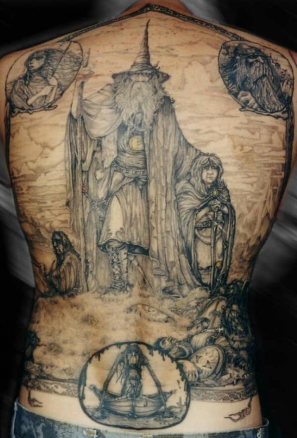 Tatuagens do filme O Senhor dos Aneis 14