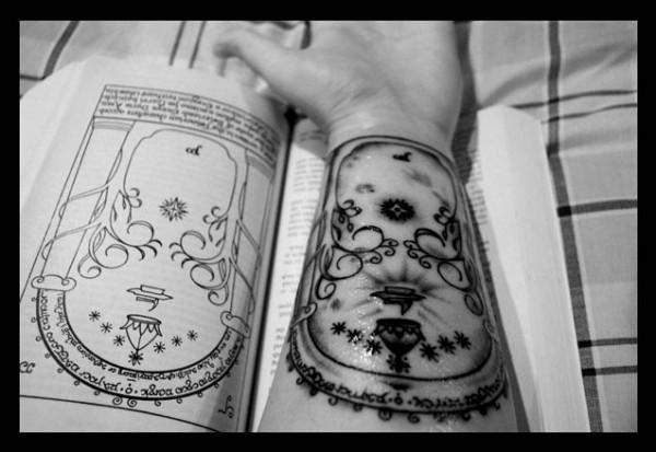 Tatuagens do filme O Senhor dos Aneis 17