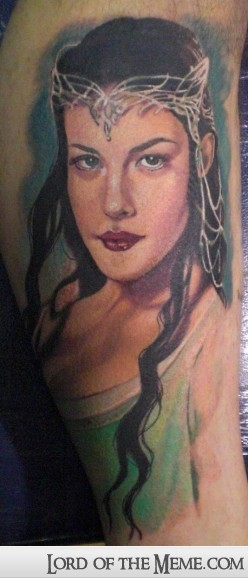Tatuagens do filme O Senhor dos Aneis 27