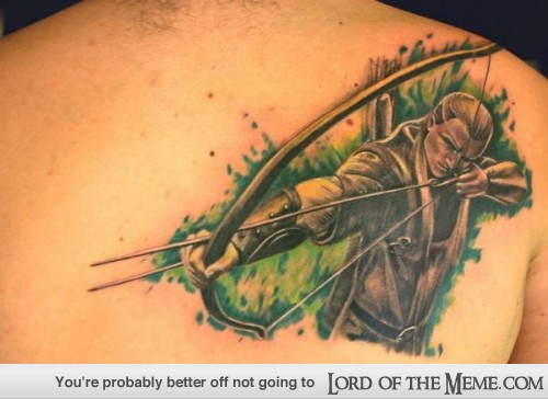 Tatuagens do filme O Senhor dos Aneis 29