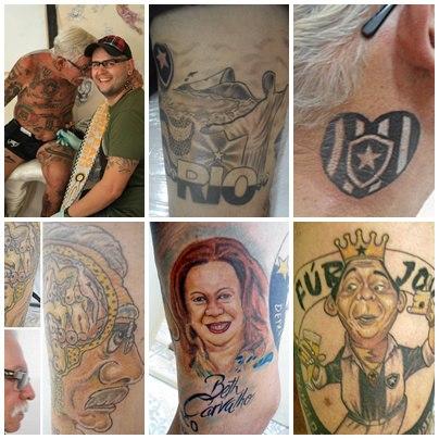 Torcedor do Botafogo tem mais de 70 tatuagens do time 03