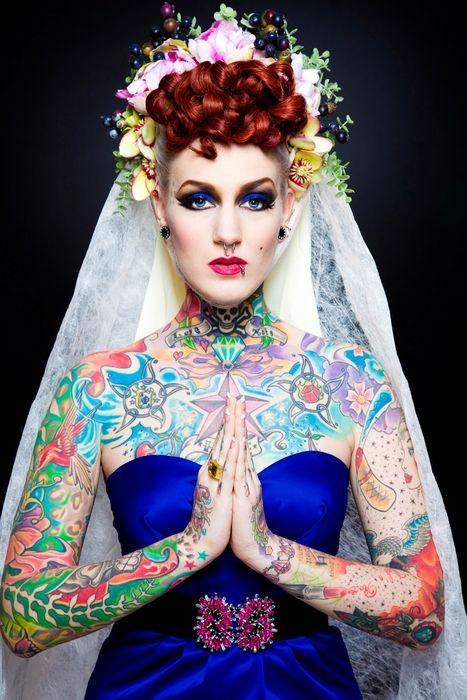 Fotos de Noivas Tatuadas 06