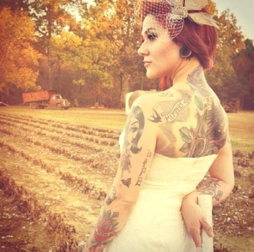 Fotos de Noivas Tatuadas 11