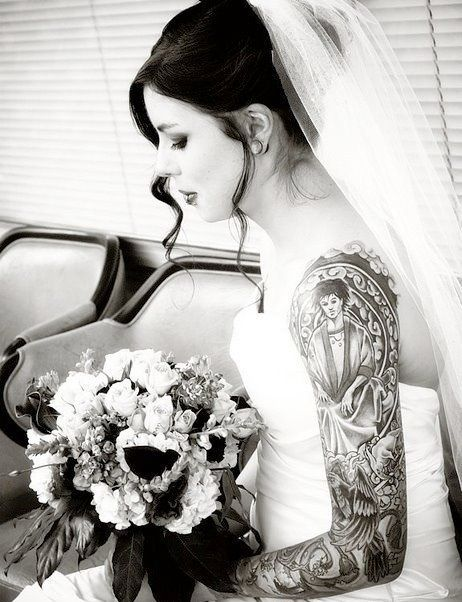 Fotos de Noivas Tatuadas 12