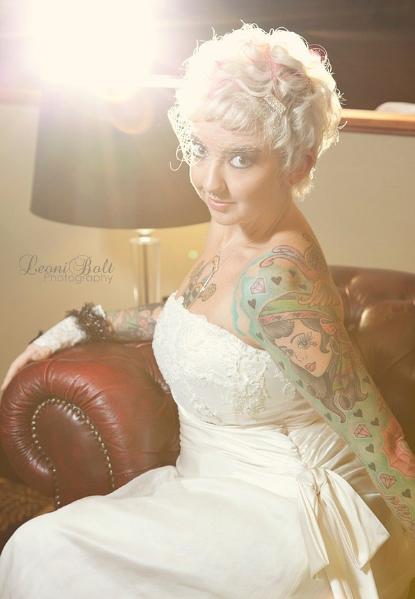 Fotos de Noivas Tatuadas 19