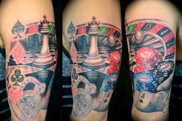 tatuagem de roleta