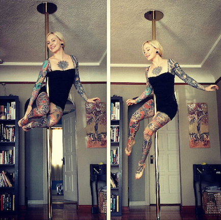 Poledancer tatuada 10