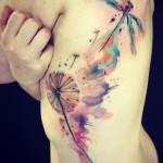 As belas tatuagens em aquarela de Amanda Wachob