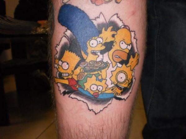 Tatuagem dos Simpsons 22