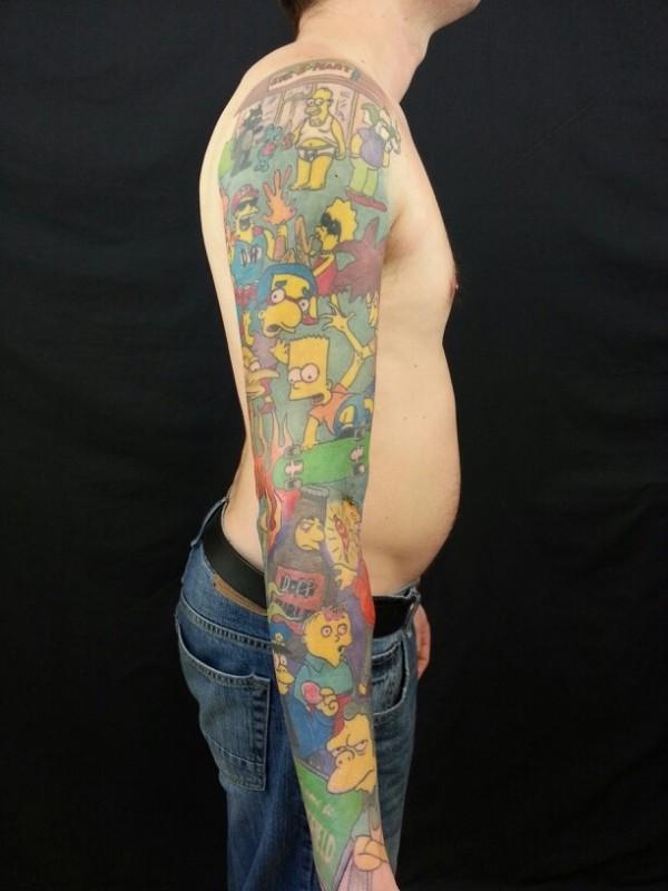 Tatuagem dos Simpsons 24