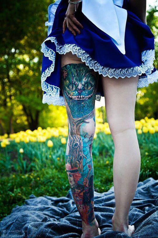 Tatuagens de Alice no Pais das Maravilhas 01