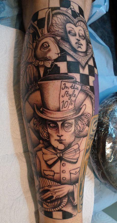 Tatuagens de Alice no Pais das Maravilhas 03