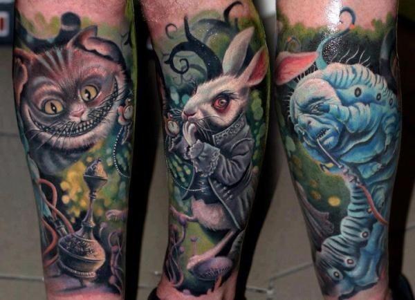 Tatuagens de Alice no Pais das Maravilhas 09