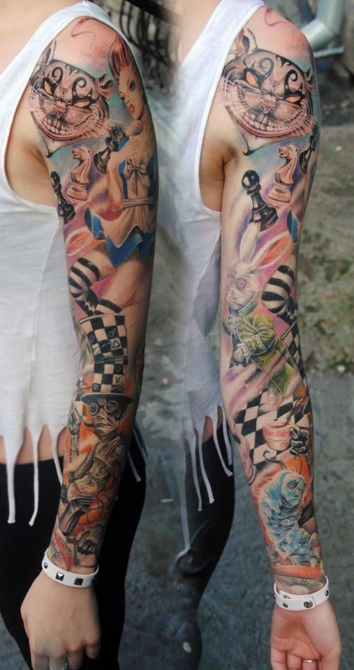 Tatuagens de Alice no Pais das Maravilhas 13