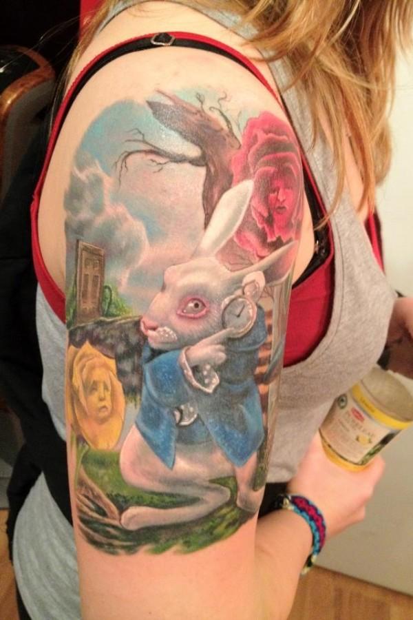 Tatuagens de Alice no Pais das Maravilhas 18