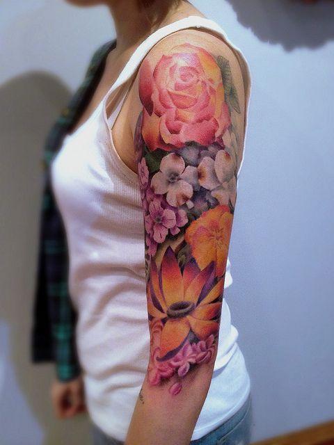 Tatuagens de flores 02