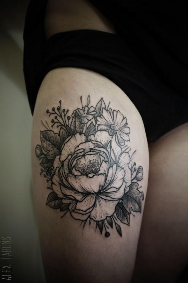 Tatuagens de flores 07