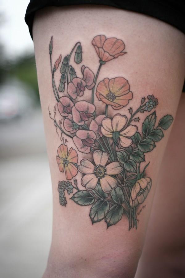 Tatuagens de flores 15
