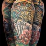 Destaque-se no casino com tatuagens temáticas de casino