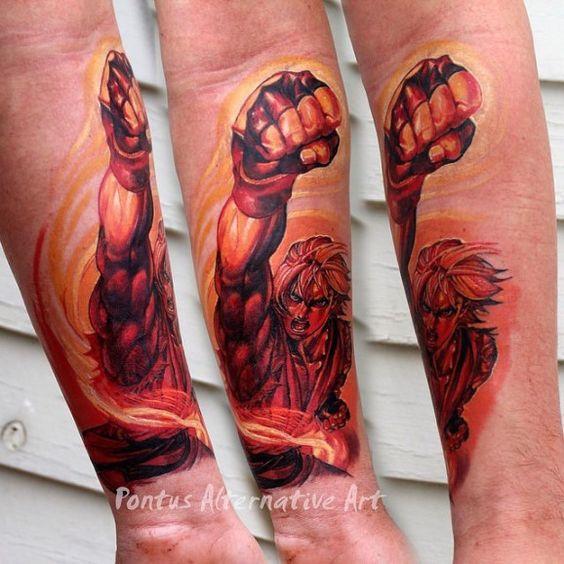 Tatuagens de Street Fighter 03