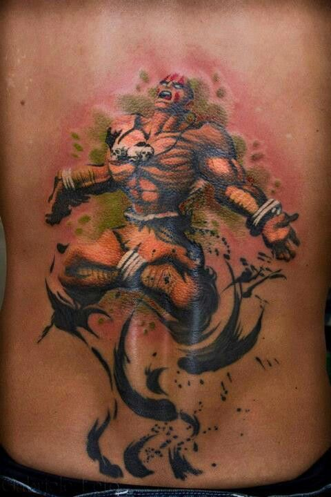 Tatuagens de Street Fighter 13