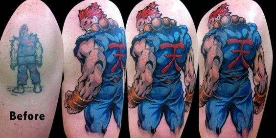 Tatuagens de Street Fighter 14