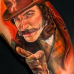 Tatuagens de retratos que são quase fotos