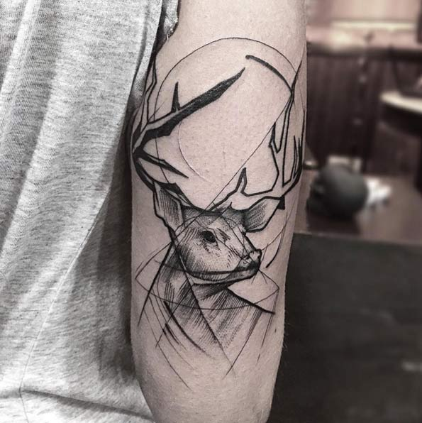 sketch-style-stag-tattoo