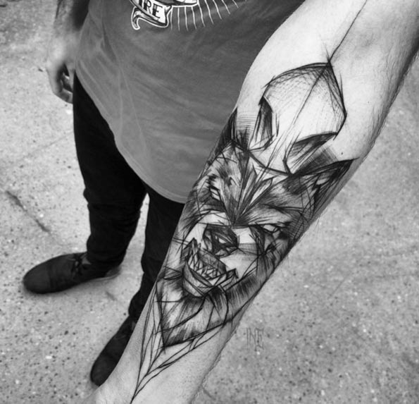 sketch-style-wolf-tattoo-1