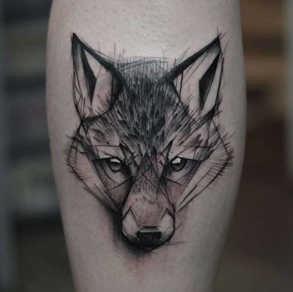 sketch-style-wolf-tattoo