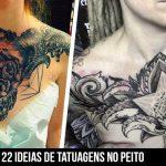 Se inspire com 22 ideias de tatuagens no peito