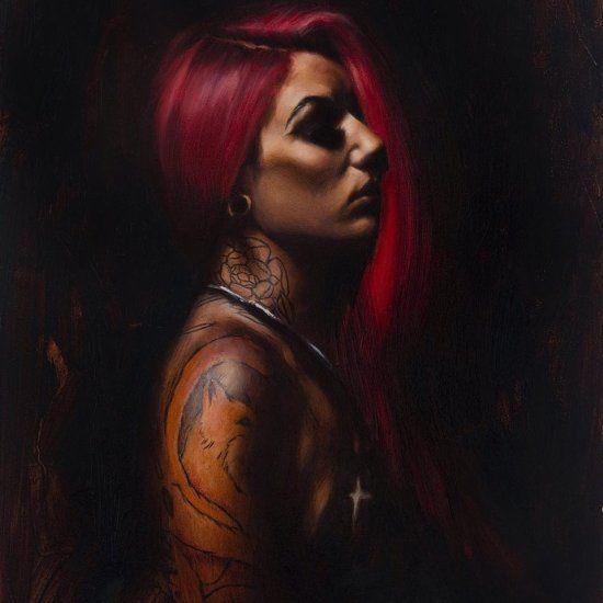 Este artista faz lindas pinturas a óleo de mulheres tatuadas