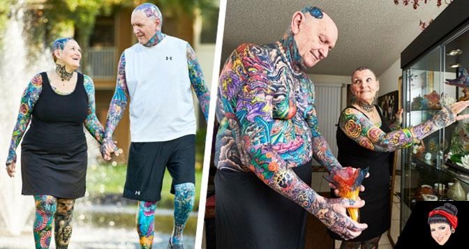 E quando você ficar velho? Conheça o casal de idosos mais tatuado do mundo