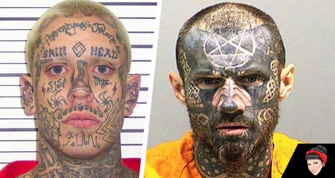 Algumas das piores tatuagens faciais de presos americanos