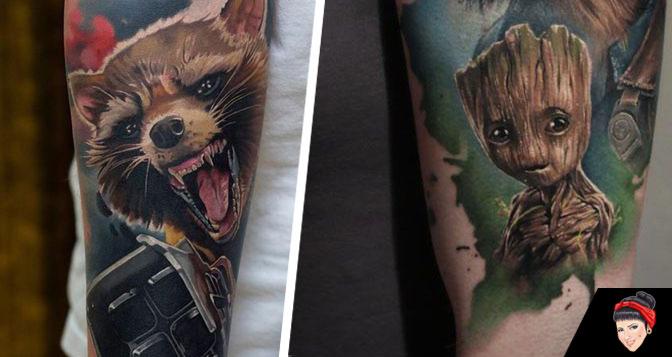 As tatuagens de Guardiões da Galáxia que vão te levar pro espaço.