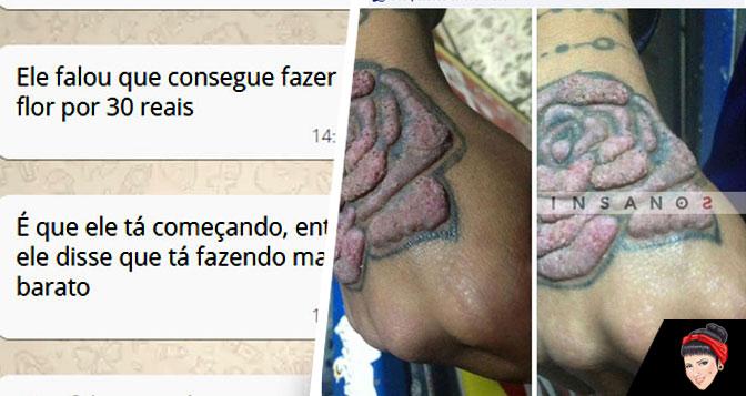 Tatuagem barata: Não caia nessa